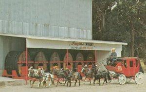 ETIWANDA , California, 1950-60s ; Regina's Winery, Miniature Horse Drawn Wagon