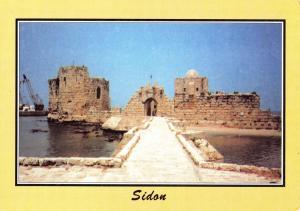 Postcard LEBANON Sidon Saida The Sea Castle Middle East