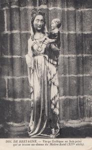 Vierge Gothique Dol Do Bretagne Maitre Autel French Religious Postcard