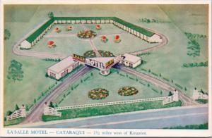 La Salle Motel Cataraqui near Kingston Ontario ON Ont. Unused Postcard E29
