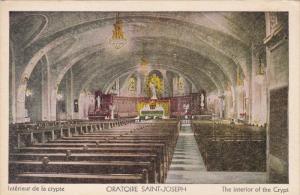 QUEBEC, Canada; Oratoire Saint-Joseph, Interior of the Crypt, 10-20s