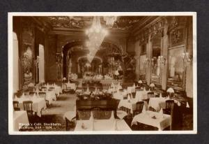 Blanch's Cafe Restaurant STOCKHOLM SWEDEN Postcard Carte Postale Brefkot