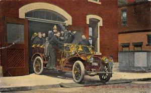 LP58   Detroit  Michigan  Postcard Fire Auto Flying Squadron