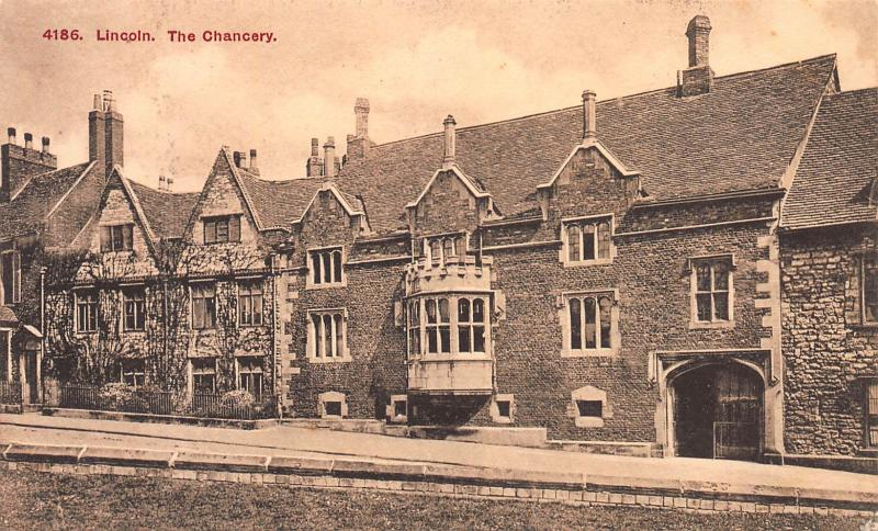 Lincoln, The Chancery, England, early sepia postcard, Unused
