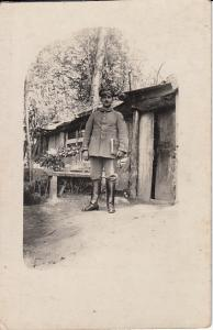 RP of German Officer on Card Posted From Field 1915