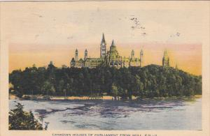 QUEBEC, Canada, PU-1932; Canadian Houses Of Parliament From Hull