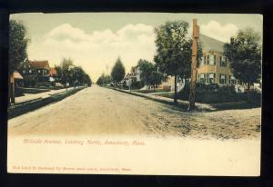 Amesbury, Massachusetts/MA/Mass Postcard, Hillside Avenue Looking North