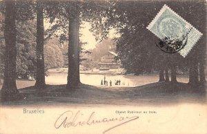 Chalet Robinson au bois Bruxelles Belgium 1905 Stamp on front