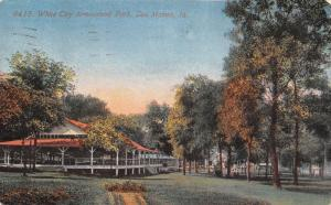 Des Moines IA Amusement Park~Long Pavilion @ White City~Early Autumn c1907 PC