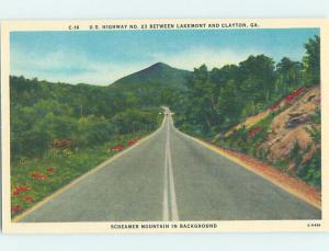 Linen US ROUTE 23 HIGHWAY Between Lakemont & Clayton Georgia GA AD4441-12