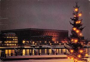 Sweden Kungliga Slottet i Stockholm The Royal Palace at Christmas time