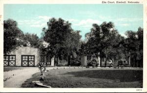 Nebraska Kimball Elm Court Curteich