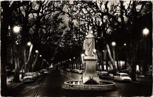 CPA AIX-en-PROVENCE Le Cours Mirabeau la nuit-Statue du Roy Rene (339920)