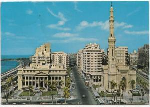 Egypt, Alexandria, Kaed Ibrahim Mosque, 1984 used Postcard
