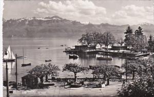 Switzerland Ouchy Le Quai 1956 Photo