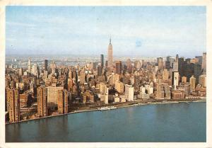 USA Aerial view of Mid Manhattan with East River New York City Panorama