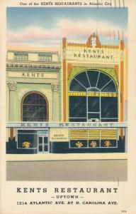 Kent's Restaurant Uptown Atlantic City NJ New Jersey pm 1950 - Roadside - Linen