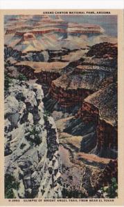 Arizona Grand Canyon Glimpse Of Bright Angel Trail From Near El Tovar Fred Ha...