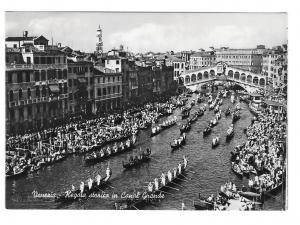 Italy Venezia Venice Grand Canal Regatta Glossy Vera Foto 4X6 Photo Postcard