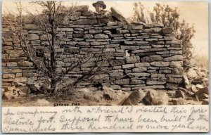 1908 GALLUP, New Mexico RPPC Real Photo Postcard SPANISH FORT w/ NM Cancel