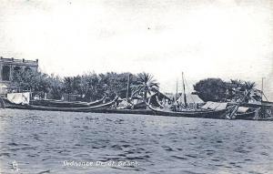 Basra Iraq Ordnance Depot Boats Raphael Tuck Postcard