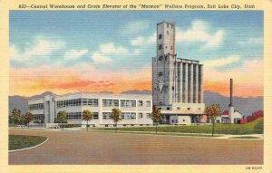 SALT LAKE CITY, UT Utah MORMON WELFARE PROGRAM~Central Warehouse c1940s Postcard
