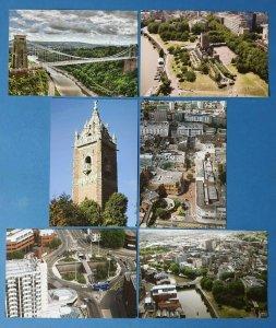 Set of 6 NEW Postcards, BRISTOL Clifton Suspension Bridge, River Avon, Cabot BT3