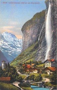 Postcard Switzerland Lauterbrunnen Staubbach