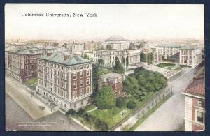 Columbia University New York NY unused c1910's