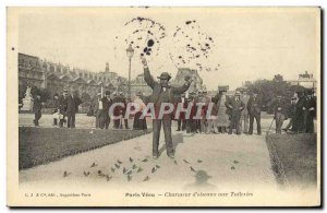 Old Postcard Paris Charmer Vecu d & # 39oiseaux Tuileries TOP