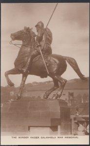 Scotland Postcard - The Border Raider, Galashiels War Memorial   MB2059