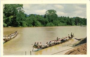 CPA Laos Indochine Luang-Prabang - Course de pirogues sur la Nam-Khane (62574)