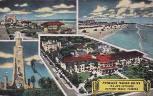 Florida Daytona Beach Princess Issena Hotel Inn And Cottages 1953