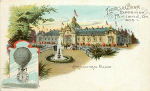 1905 Lewis & Clark Expo Postcard Portland OR Agricultural Palace unposted nice
