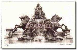Lyon Old Postcard The Bartholdi fountain