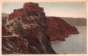 Castle Rock, Lynton, England, Great Britain, Early Hand Colored Postcard, Unused