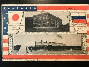 Vintage Postcard>1905>Japanese Russian Peace Conference>Portsmouth<N.H.