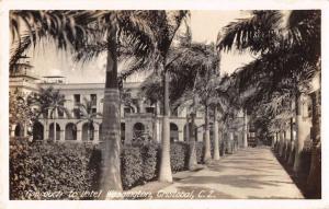 Cristobal Panama Hotel Washington Real Photo Antique Postcard K79734