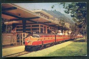 Griffith Park Miniature Railroad Station Los Angeles California ca postcard