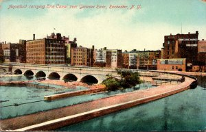 New York Rochester Aqueduct Erie Canal Over Genesee River 1910