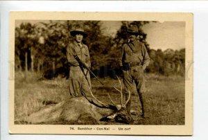 424033 VIETNAM Deer hunting Vintage SAIGON postcard