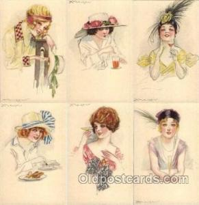 Artist Mauzan set of 6 postcards series 41  Mauzan set Series 41