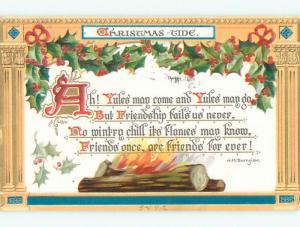 Pre-Linen tuck - HM BURNSIDE QUOTE - CHRISTMAS TIDE k1658