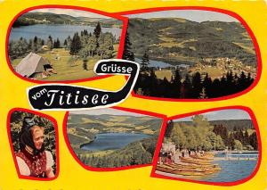 Gruesse vom Titisee Gesamtansicht Lake General view Boats Bateaux