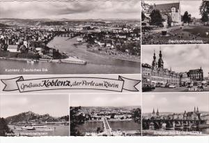 Gruss Aus Koblenz Der Perle Am Rhein Multi View Germany Real Photo