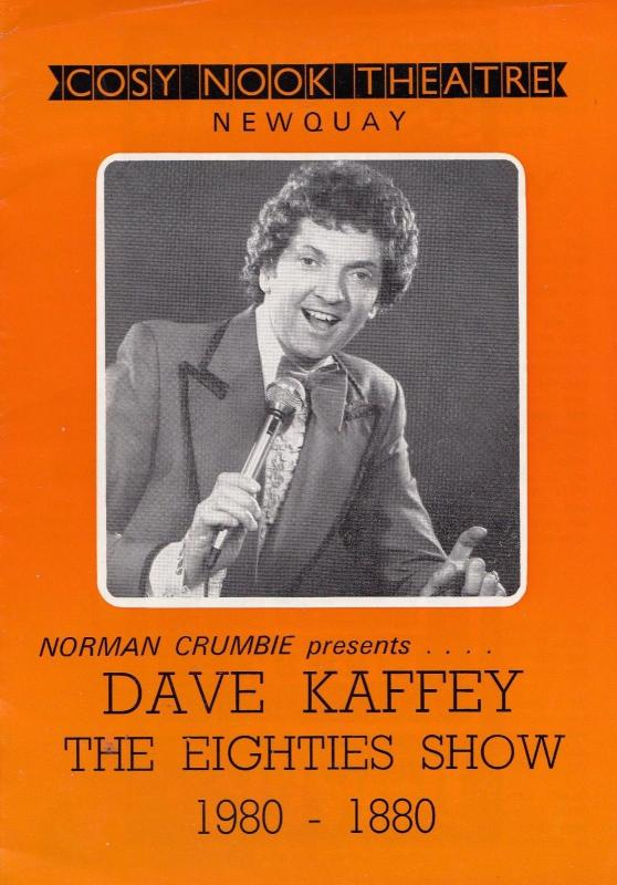 Dave Kaffey The New Faces The Eighties 80s Show Newquay Theatre Programme