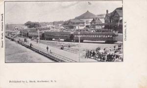 Train & Boardwalk Ontario Beach Amusement Park Charlotte - Rochester NY - PMC