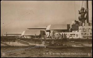 Germany WWI Navy ShipSMS Moltke  Kriegsmarine  Postcard RPPC 65940
