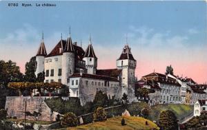 NYON SWITZERLAND LE CHATEAU POSTCARD