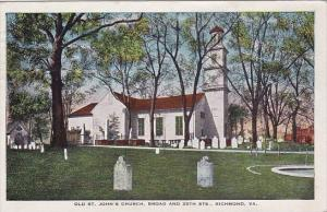 Virginia Richmond Old Saint Johns Church Broad And 25th Street 1928